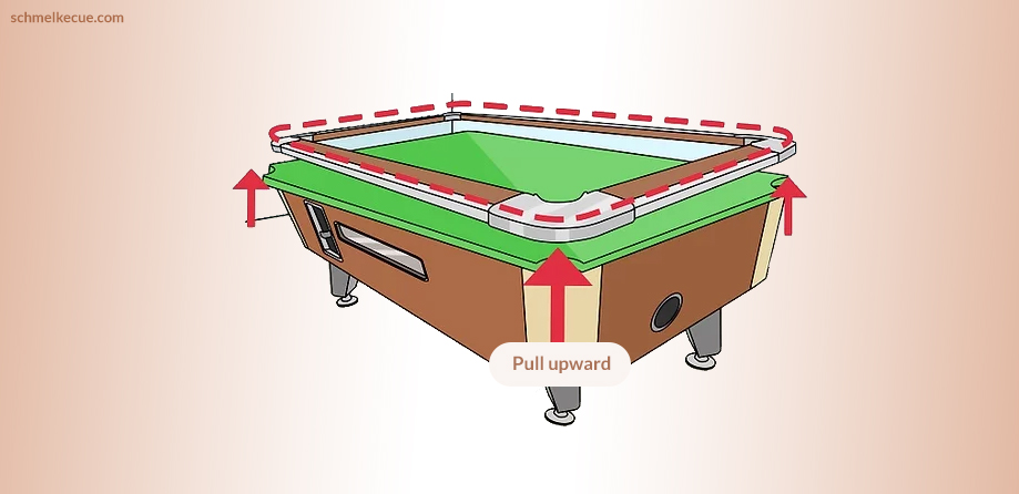 Disassembling the Pool Table